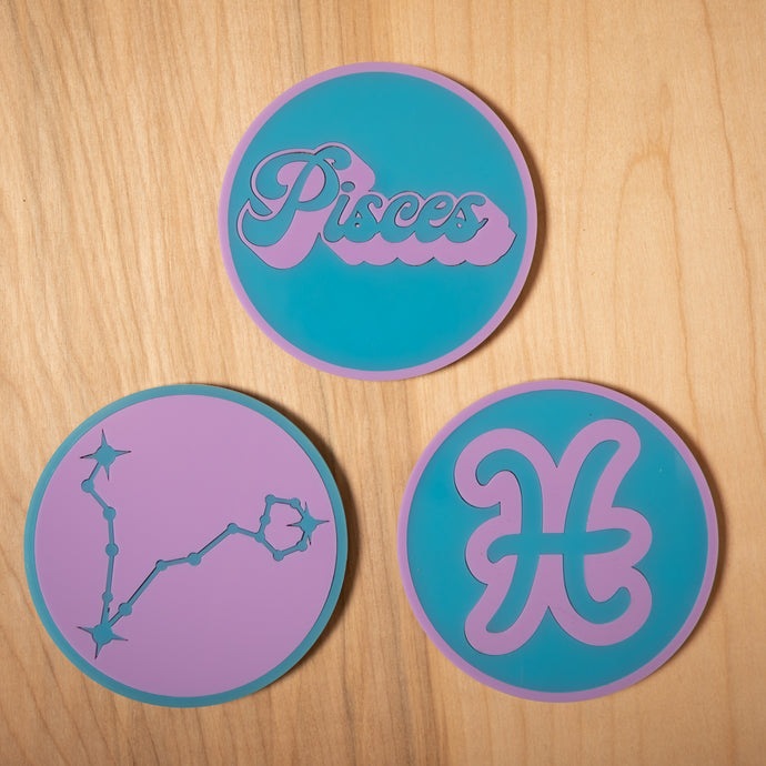 The Pisces Zodiac Coasters
