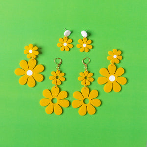 Canary Daisy Earring Bundle