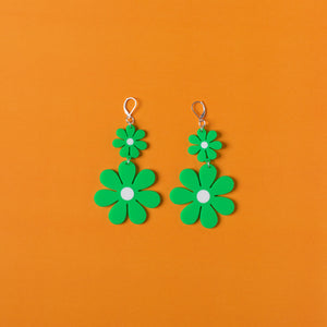 The Double Daisy Dangle Earrings