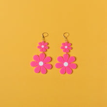 Load image into Gallery viewer, The Double Daisy Dangle Earrings