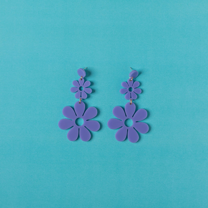 Double Dazey Hanging Stud Earrings