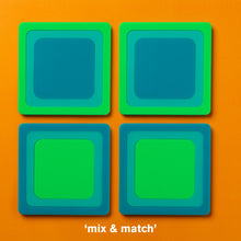 Load image into Gallery viewer, Radiating Square Drink Coasters (4)