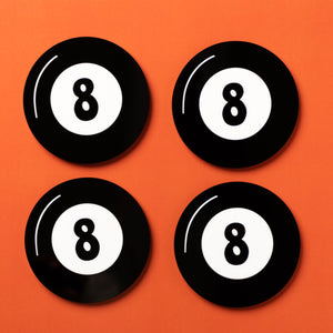 Magic 8-Ball Coasters