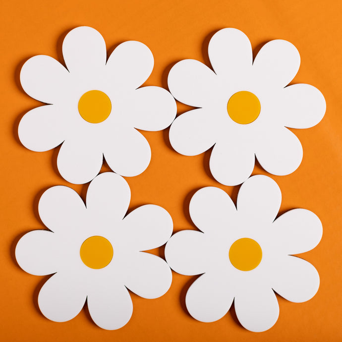 Daisy Coasters Pack of 4
