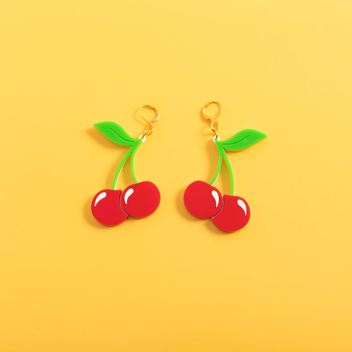 Cherry Dangle Earrings,EarringMindFlowers