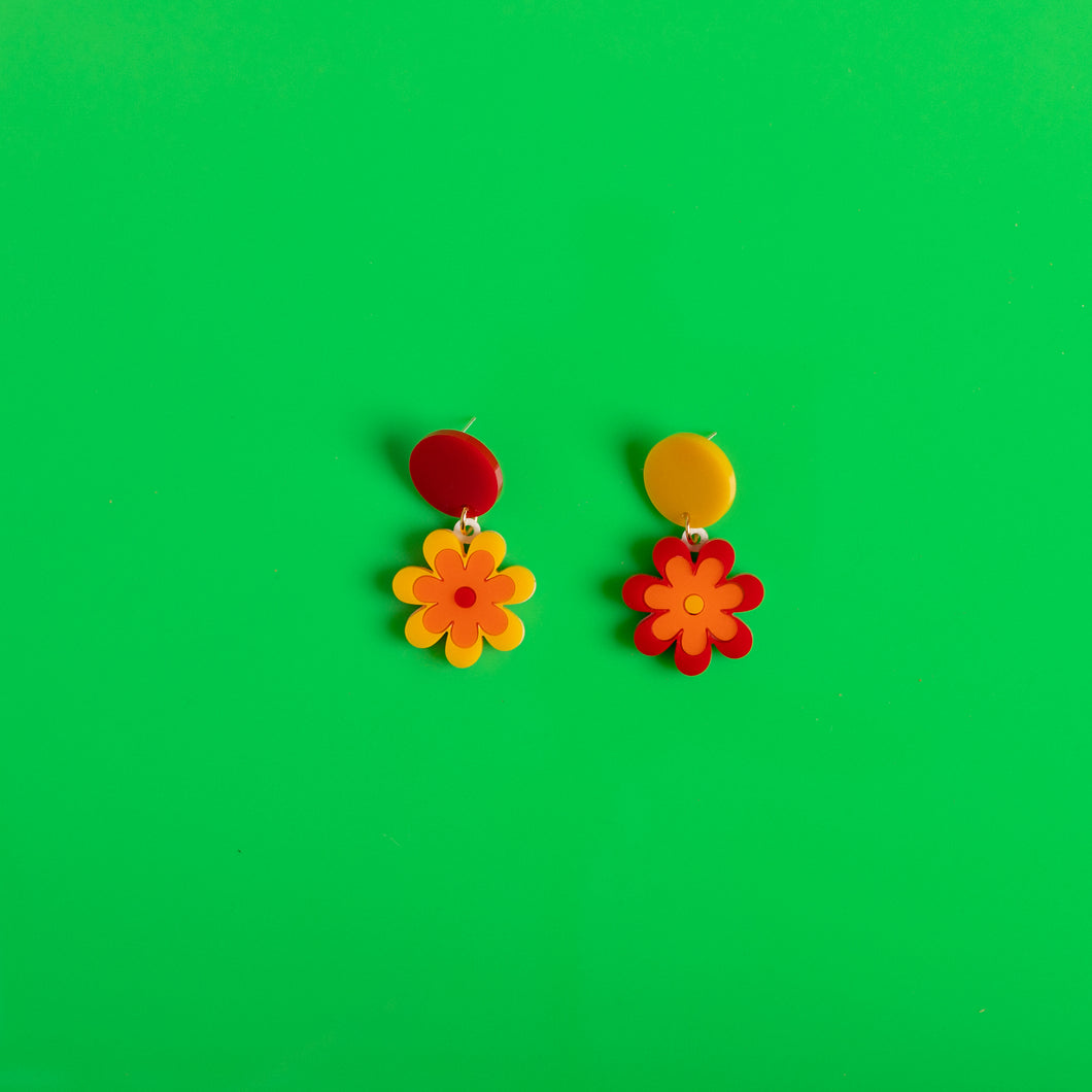The Baby Candy Daisy Hanging Stud Earrings