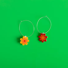 Load image into Gallery viewer, The Baby Candy Daisy Hoop Earrings