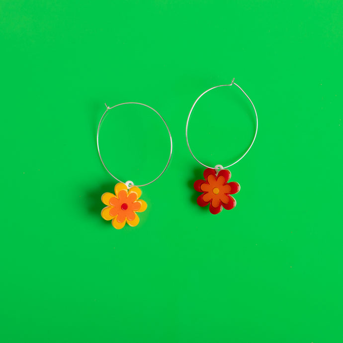 The Baby Candy Daisy Hoop Earrings
