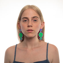 Load image into Gallery viewer, Mindflowers Power of Peace Hanging Stud Earring on Model