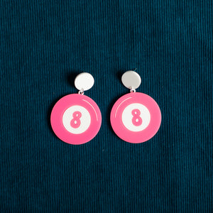 The Magic 8-Ball Hanging Stud Earring