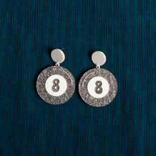 Load image into Gallery viewer, The Magic 8-Ball Hanging Stud Earring