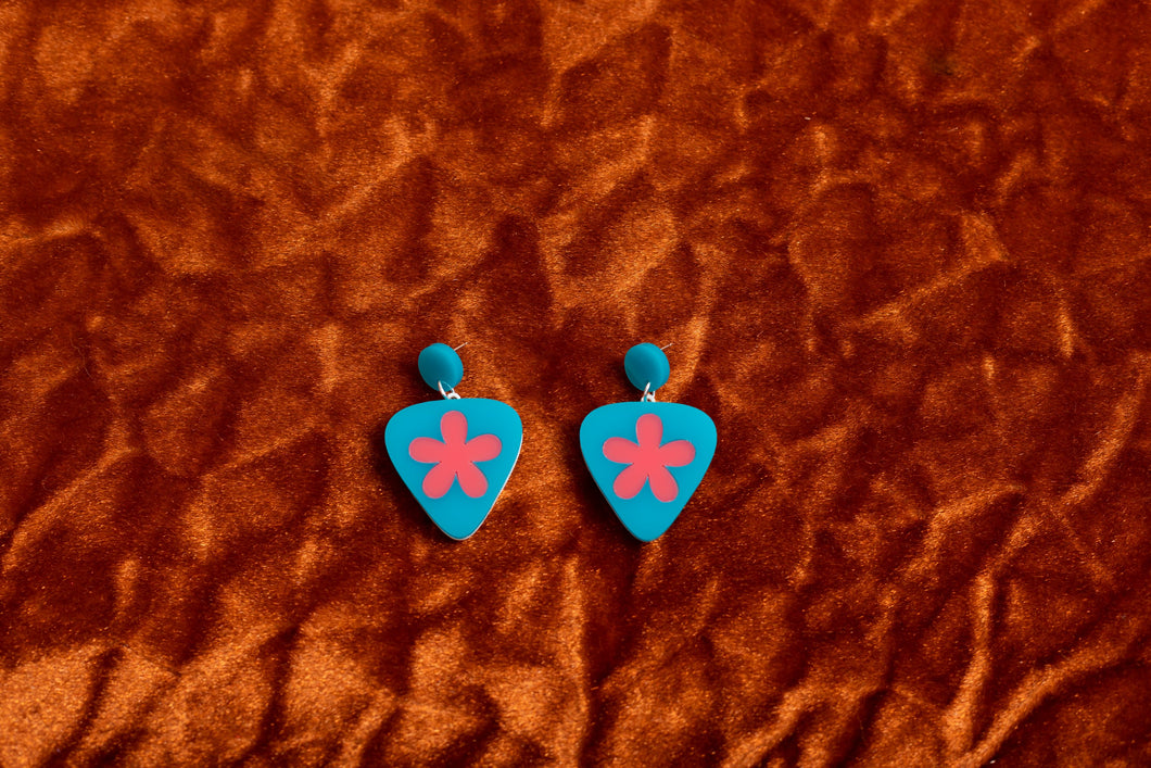 The Playing with Petals Hanging Stud Earrings,EarringMindFlowers