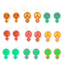 Load image into Gallery viewer, Mindflowers Power of Peace Hoop Earring Color Options