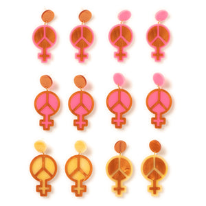 Mindflowers Power of Peace Hanging Stud Earring Color Collage 2