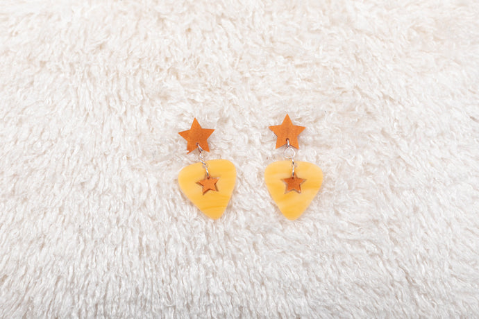The Starstruck Hanging Star Earrings,EarringMindFlowers
