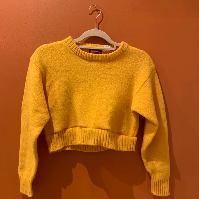 Vintage Yellow Sweater,TopMindFlowers