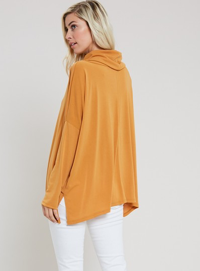 Mustard Cowl Neck Top