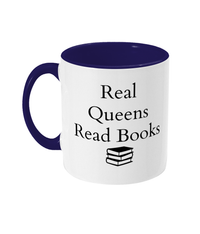 Real Queens Read Books Two-Toned Mug