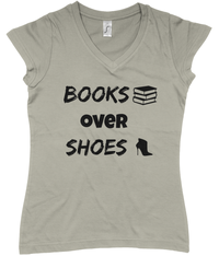 Books over Shoes V-Neck T-Shirt