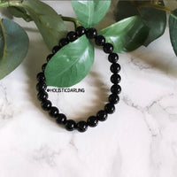 Black Agate Power Gemstone Bracelet