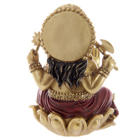 Ganesh Gold and Red 16cm Statue