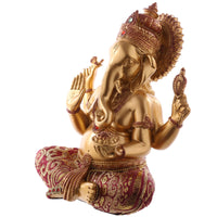 Lord Ganesh Red and Gold Figurine