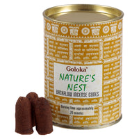 Goloka Natures Nest Backflow Incense Cones (x6 Tins)