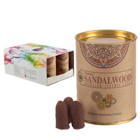 Goloka Sandalwood Backflow Incense Cones (x6 Tins)