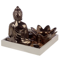 Lotus Buddha Candle & Incense Stick Burner