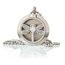 Load image into Gallery viewer, Aromatherapy Diffuser Necklace - Dragonfly 25mm