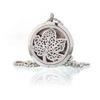Aromatherapy Diffuser Necklace - Leaf 30mm