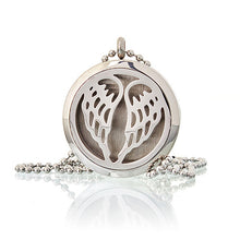 Load image into Gallery viewer, Aromatherapy Diffuser Necklace - Angel Wings 30mm