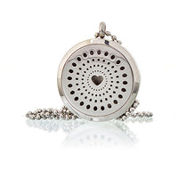 Aromatherapy Diffuser Necklace - Diamonds Heart 30mm
