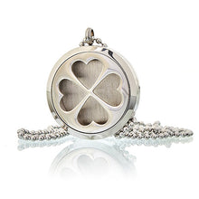 Load image into Gallery viewer, Aromatherapy Diffuser Necklace - Four Leaf Clover  30mm