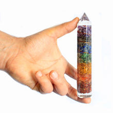 Load image into Gallery viewer, Orgonite Power Wand With Copper & Gemstone chips