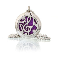 Musical Notes 25mm - Aromatherapy Diffuser Necklace