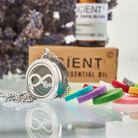 Love You to Infinity 25mm - Aromatherapy Diffuser Necklace