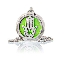Hamsa Hand 30mm - Aromatherapy Diffuser Necklace