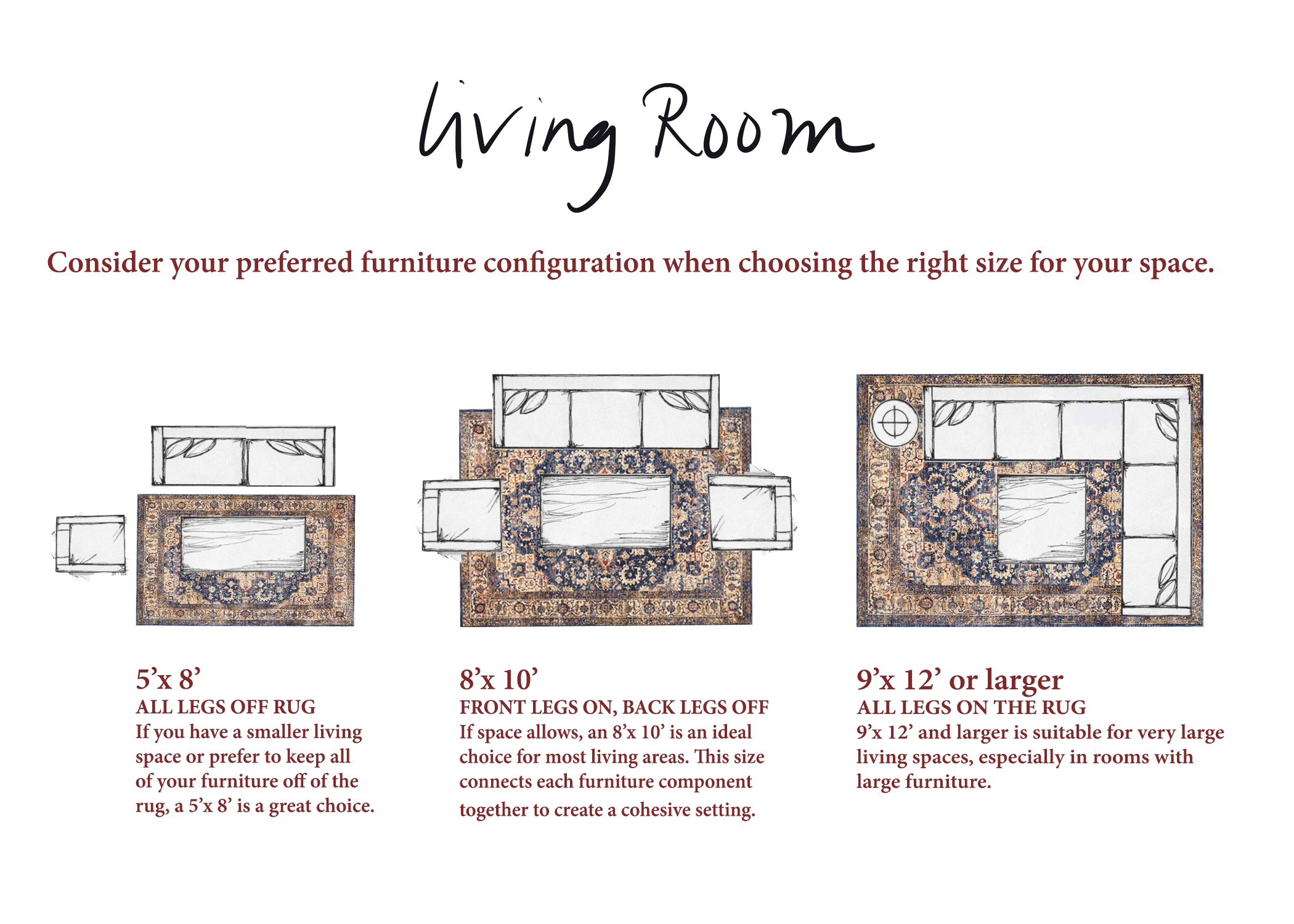 living room size guide