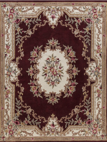 Area Rugs - Dynasty Aubusson Burgundy