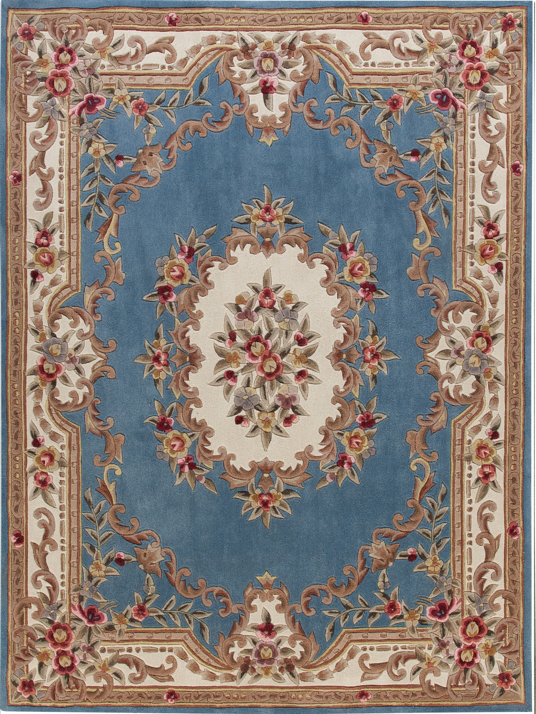 Area Rugs - Dynasty Aubusson Light Blue