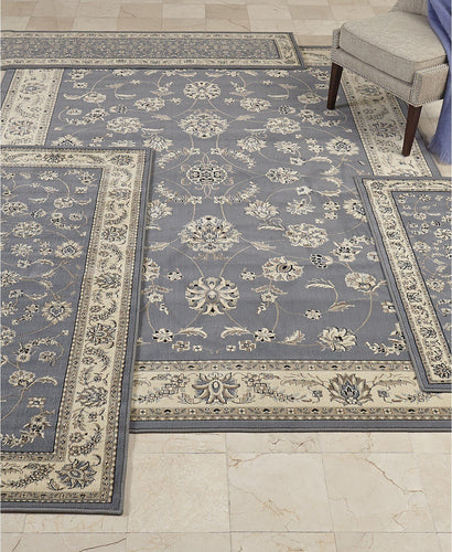 Area Rugs - Florence Isfahan Grey/Blue