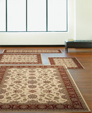 Load image into Gallery viewer, Area Rugs - Florence Meshed Ivory/Brick