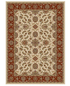 Area Rugs - Florence Meshed Ivory/Brick
