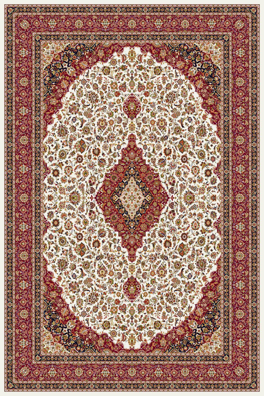 Area Rugs - Persian Treasures - Kashan - Cream
