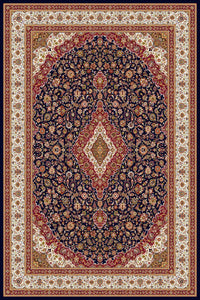 Area Rugs - Persian Treasures - Kashan - Navy