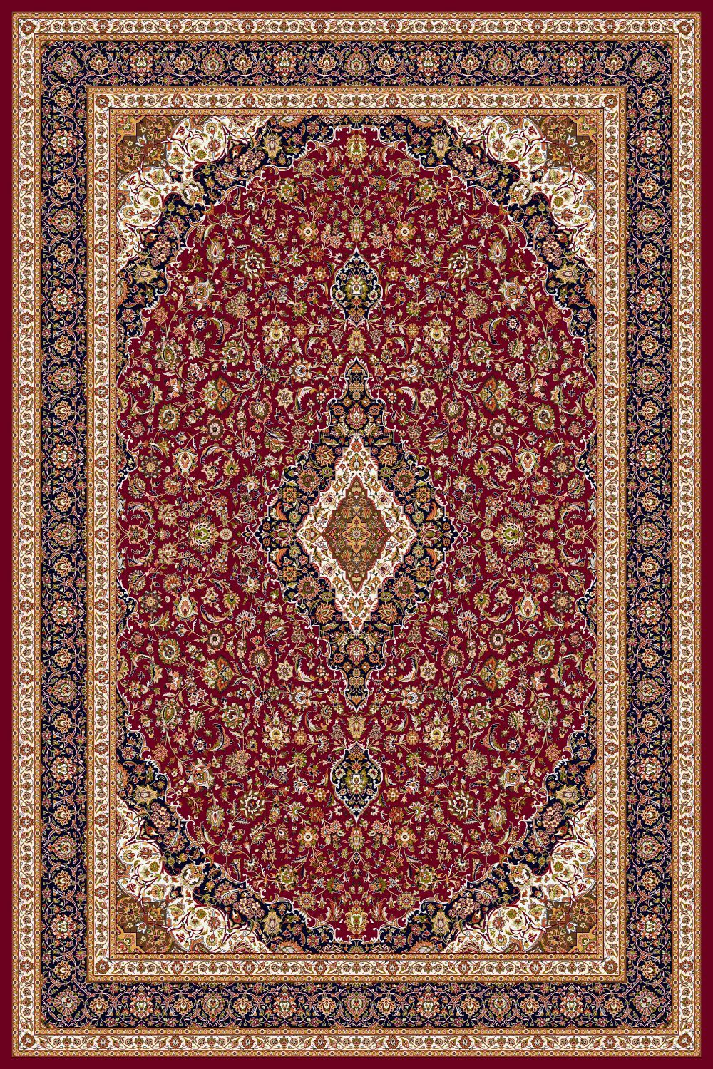 Area Rugs - Persian Treasures - Kashan - Red