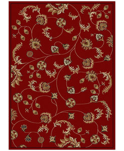 Area Rugs - Pesaro Flores Red