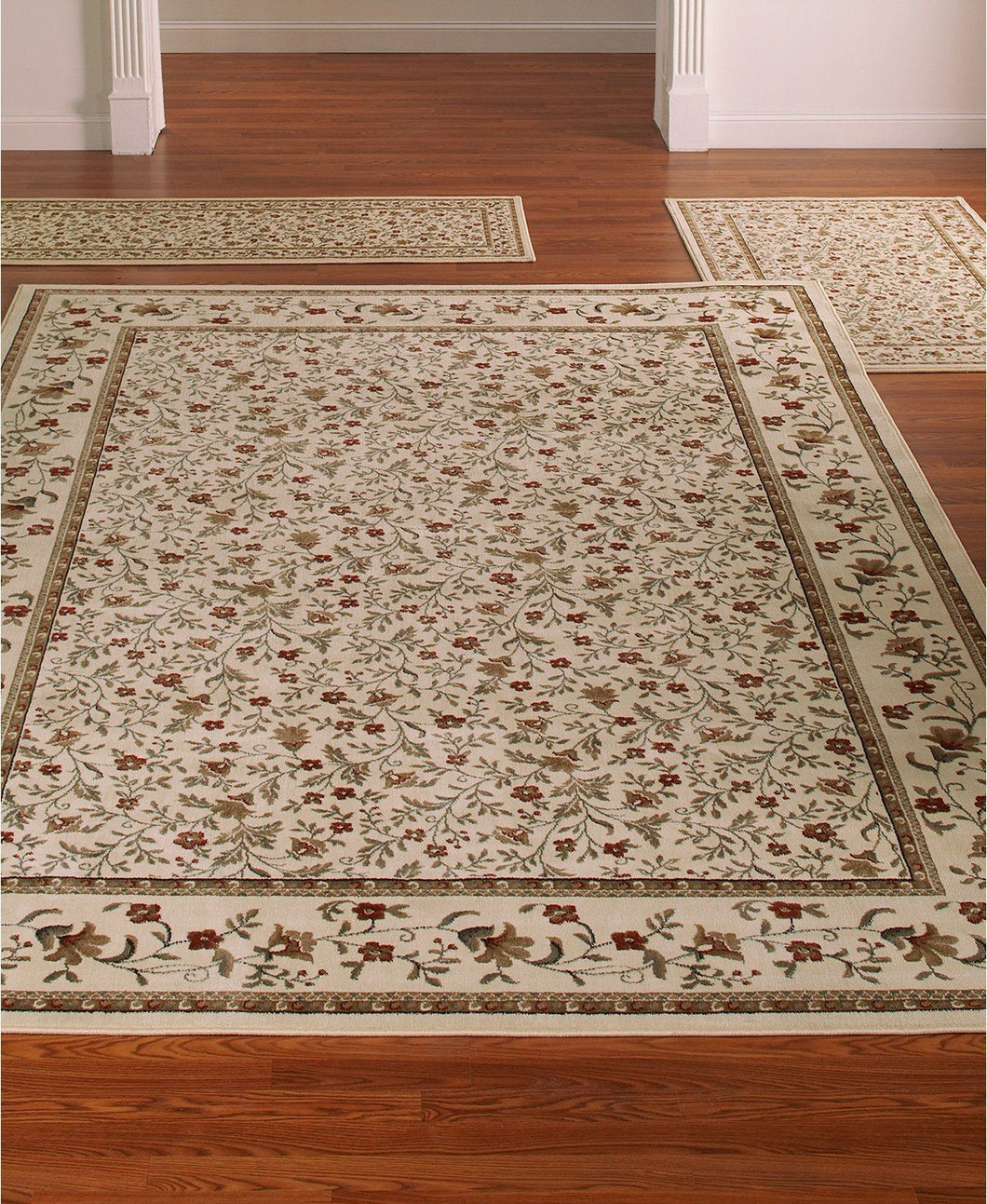 Area Rugs - Roma Closeout Floral Ivory