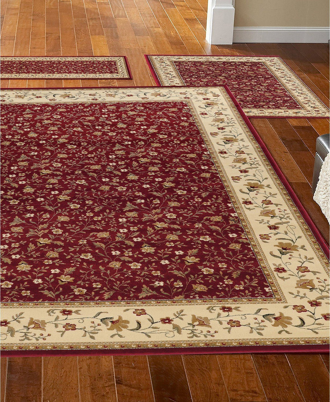 Area Rugs - Roma Closeout Floral Red